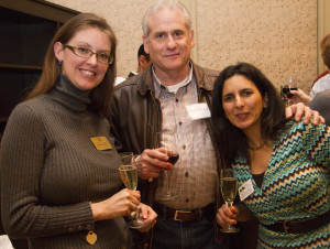 (From left to right) Jennifer Moore of the Mosby Heritage Area Association, Jay Trier of Richard Allen Clothing and Rosanna Smith of the Aldie Heritage Association at the February Biz Buzz at Salamander Resort & Spa.
