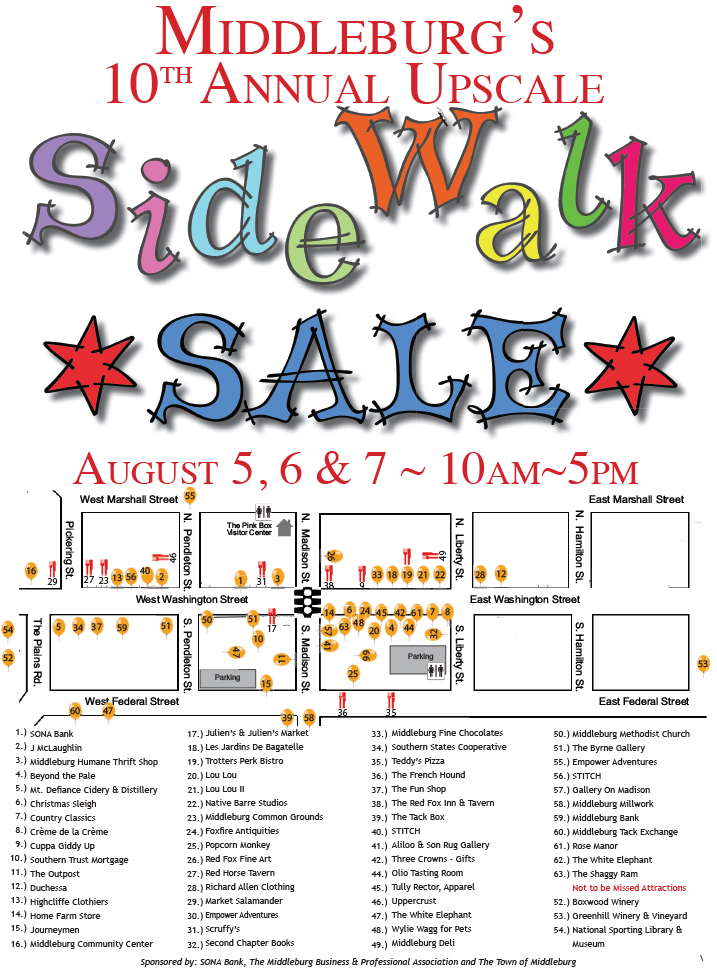 Middleburg VA Sidewalk Sale