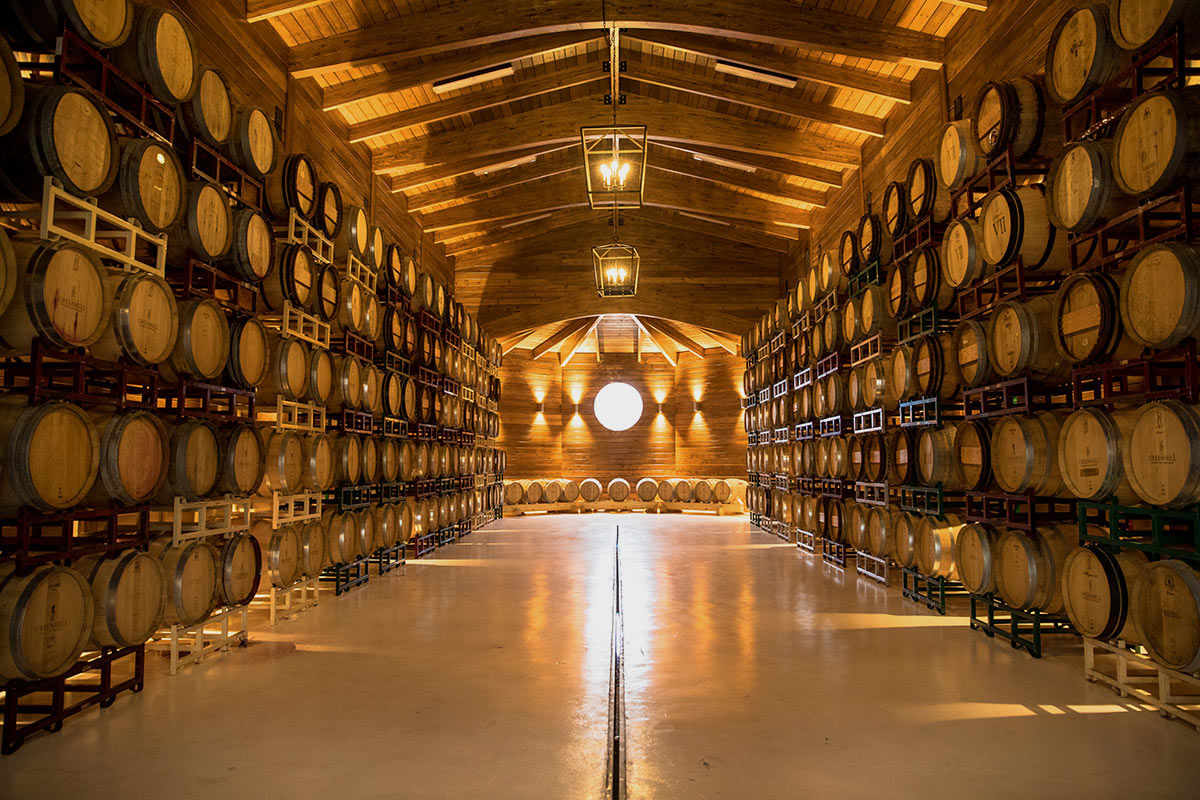 Greenhill Winery and Vineyard Barrel Room