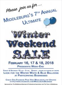 Winter Weekend Sale Middleburg VA