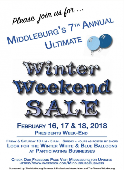 Winter Weekend Sale Middleburg VA